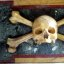 s maria del popolo, skull and crossbones