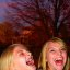 Two Girls Laughing Hysterically