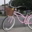 Pink 3-Speed Cruiser w. Basket and Fenders