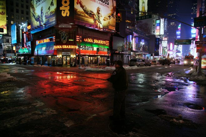 New York City, Manhattan, Theatre District, Times Square, Broadway Ave. / W. 49 St. &quot; Mama Sbarro&#039;s &quot;