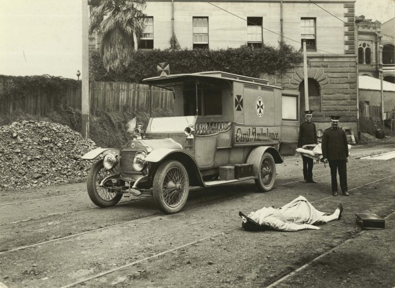 Ambulance training exercise, 1923
