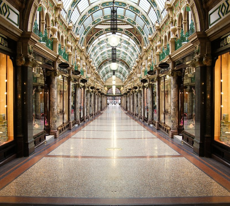 The Ridonkolously Expensive Queens Arcade, Leeds.