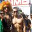 gay pride drag queen and muscle mary
