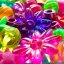 Free Sparkly Glittery Rainbow Flowers Creative Commons