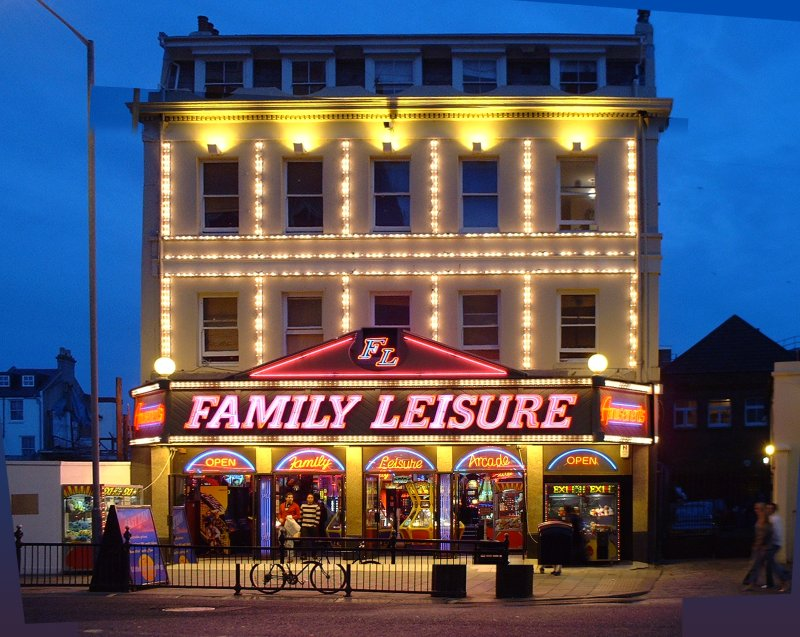 """Penny Arcade"" Neon Lit Family Leisure"