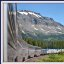 Eastbound Empire Builder ; Glacier Park MT