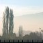 Fog clearing, South Canterbury, New Zealand, 5 August 2005