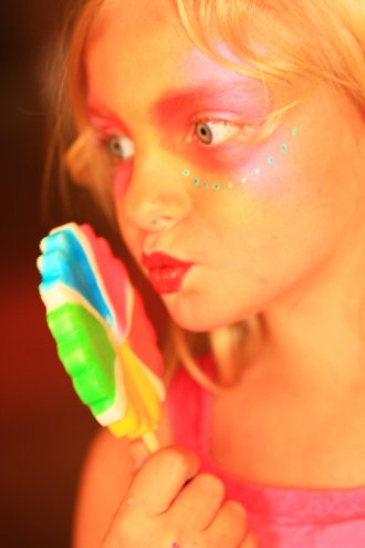 Free Colorful Girl With Rainbow Candy Lollipop Creative Commons