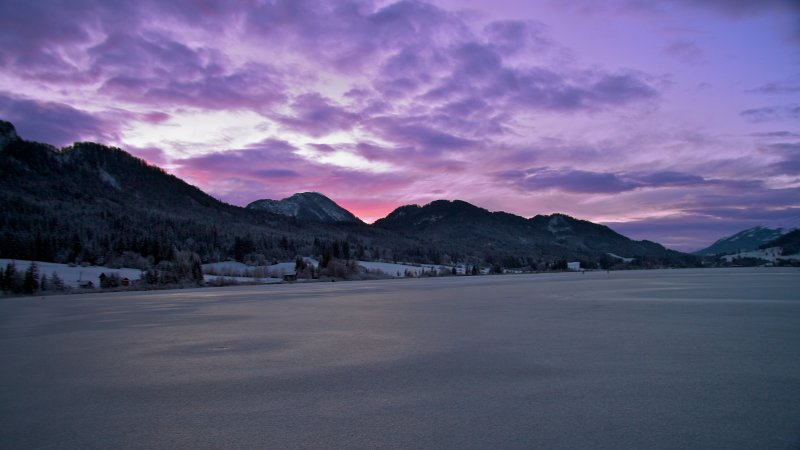 Weissensee in Winter, Himmel 1