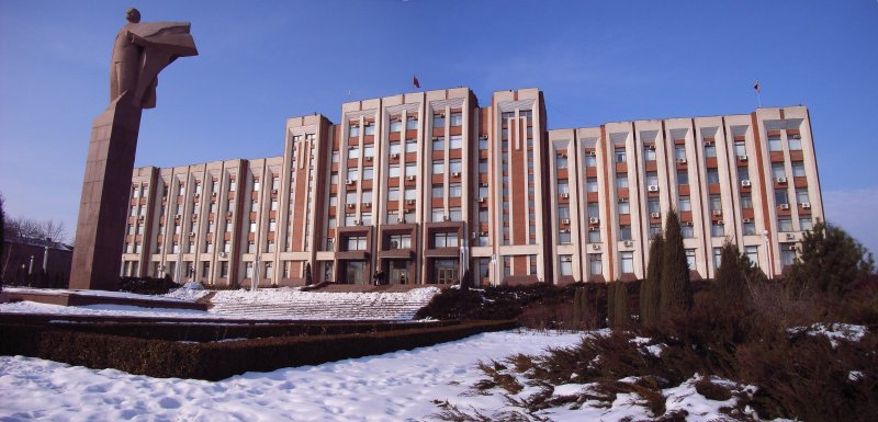 Government building in Tiraspol, Transnistria