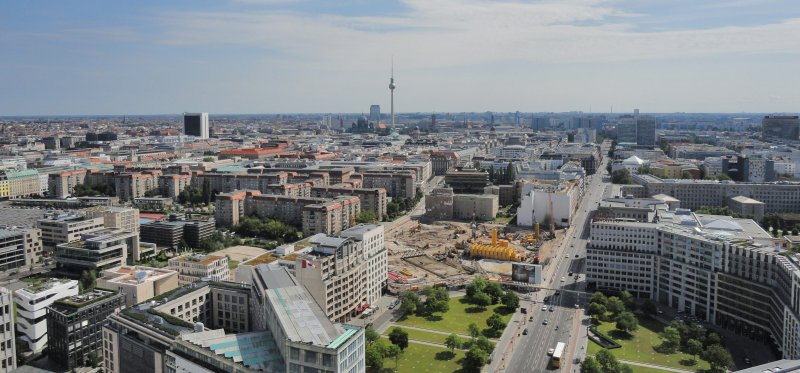 View from the Sonycentre, Berlin, Germany