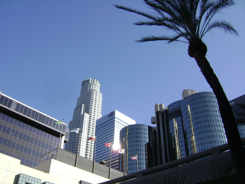 Los Angeles Skyline from below