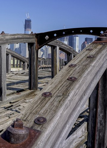View Of The World Trade Center From NJ Docks