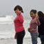 Delightful group of teens - Two Girls shown here - Beach Scenes at Morro Bay, CA