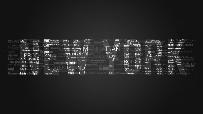 iMac 27&#039;&#039; wallpaper typo artwork: my individual New York