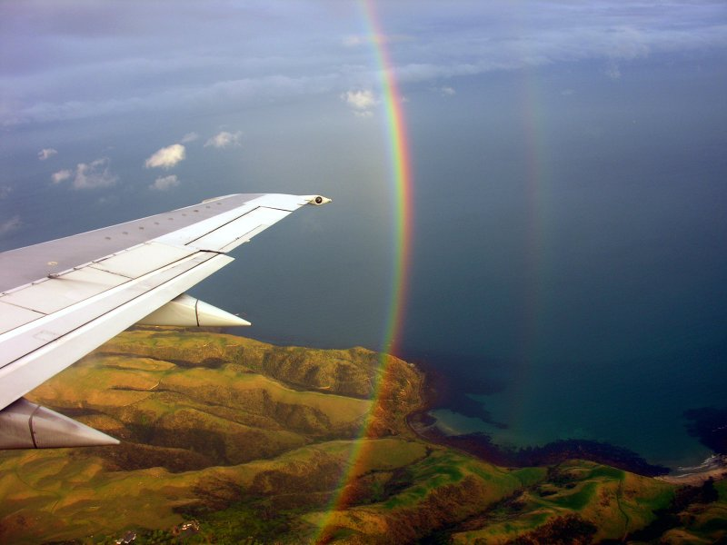 Sideways rainbow, Makara, 14 June 2005