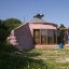 Brighton Earthship Front / Left Elevation