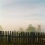 Foggy fence