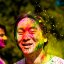 Holi festival : yellow splatters