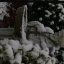 Saint Francis Statue in the Snow
