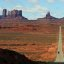 Into the great wide open! The road leading to Monument Valley, Arizona, from Mexican Hat, Utah