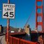 Mit 45mph ber das &quot;Golden Gate&quot;