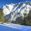 Stitched photo of the scenery near Mittenwald, Bavaria, Germany