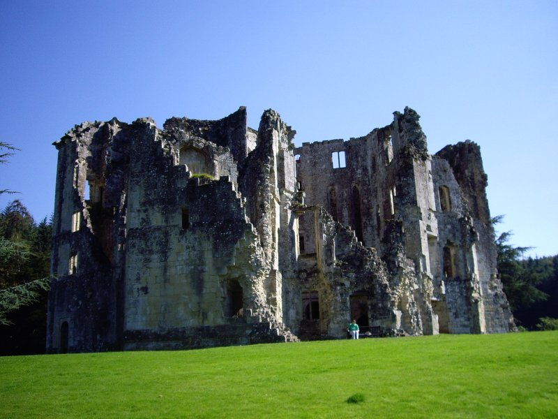 Old Wardour Castle from the east