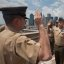 New York Marine reenlists on Brooklyn Bridge, Aug 4