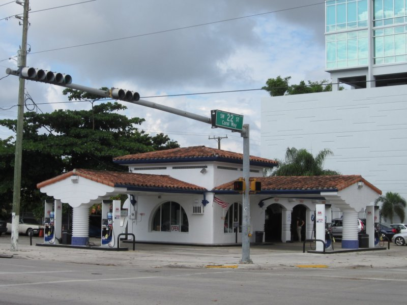 Art Deco Gas Station Coral Way Florida