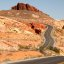 Road winding to the White Domes in Valley of Fire State Park