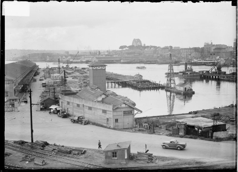 Wharves under construction, Pyrmont