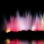 Colorful Night Fountain of Rainbow Colors