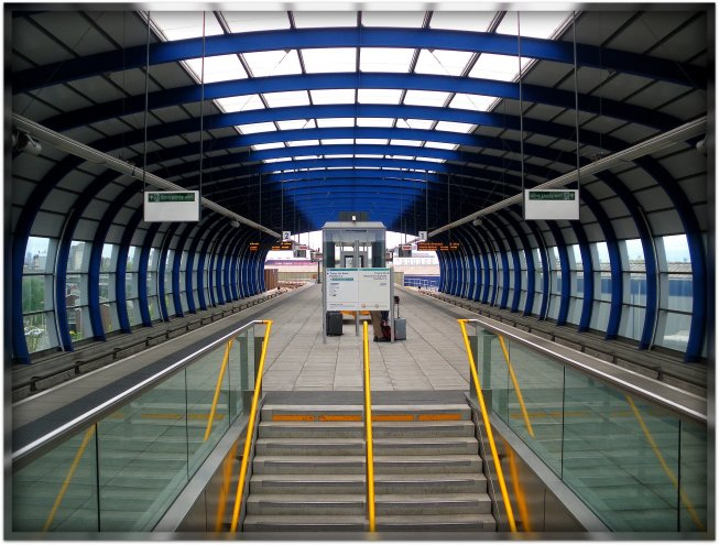 The modern DLR Station @ The London City Airport - from here you can explore the whole capital of the United Kingdom! Welcome and enjoy the magic!:)