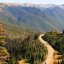 Road leading up to Hurricane Ridge in the Olympic National Park