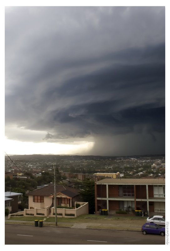 Storm over Newcastle