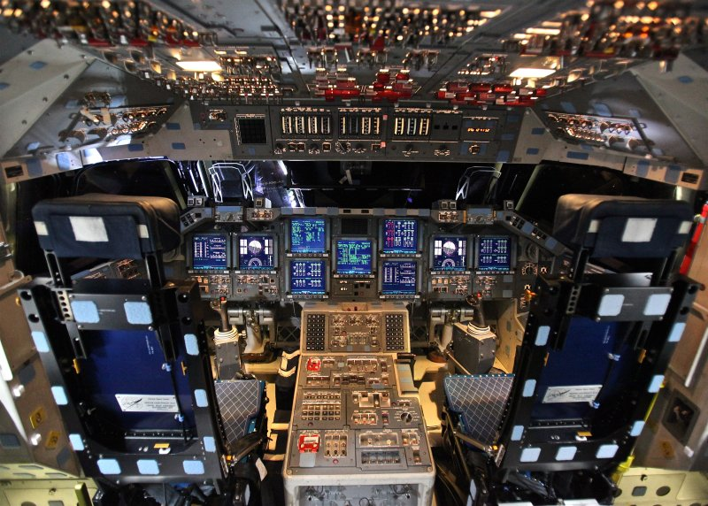 Space Shuttle Endeavour's Control Panels