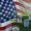 Memorial Day Free Download Poster, Graves at Arlington National Cemetery, American Flag, Veterans Day Holiday