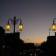 Lamps at twilight