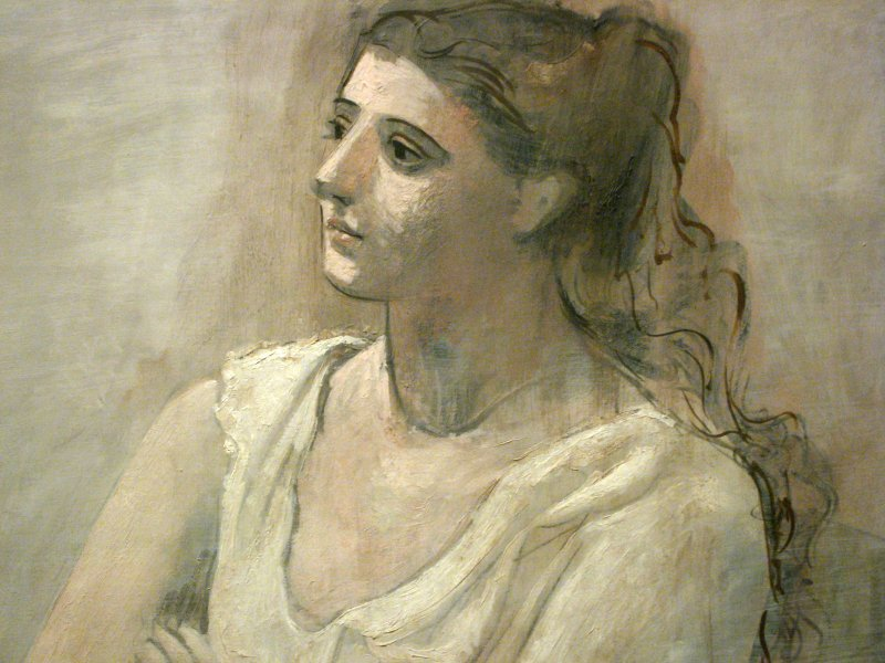 Picasso Woman in White (detail), 1923