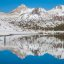 The Sierras reflected on Saddlebag Lake near Yosemite National Park - check out the fisherman on the left