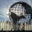 Unisphere globe in Queens Corona Park Flushing Meadow
