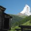 Matterhorn mit erstem Schnee