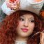 Elisa, an incredibly gorgeous redhead from Tuscany at the 2010 Carnevale in Venice