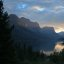 Glacier National Park sunset.