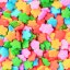 Bright Colorful Rainbow Sugar Star Shaped Cupcake Candies