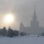 Moscow State University in winter (2006-01-013)