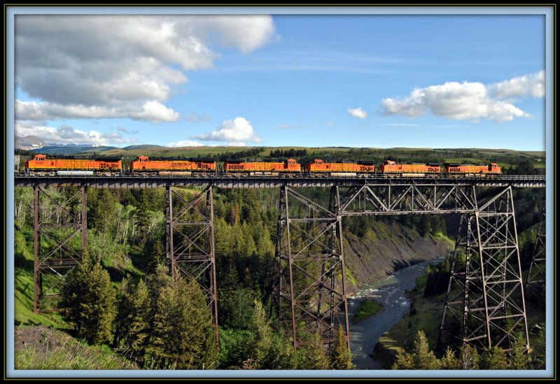 BNSF  train @Two Medicine Trestle