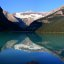 Stitched shot of the Victoria Glacier and mountains ringing Lake Louise, Banff National Park (view on large)