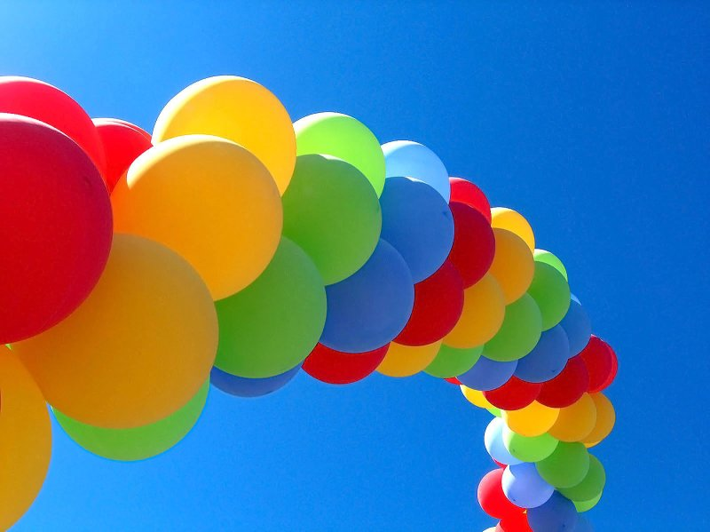 Balloons to the sky